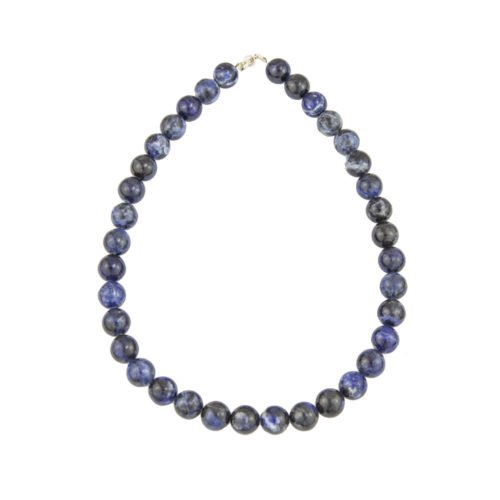 collier sodalite peirres boules 10mm