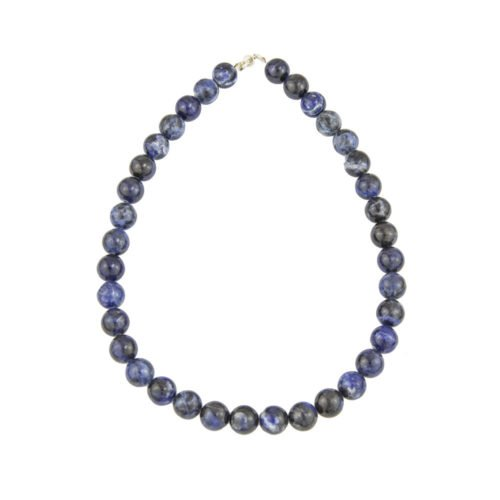 collier sodalite pierres boules 12mm