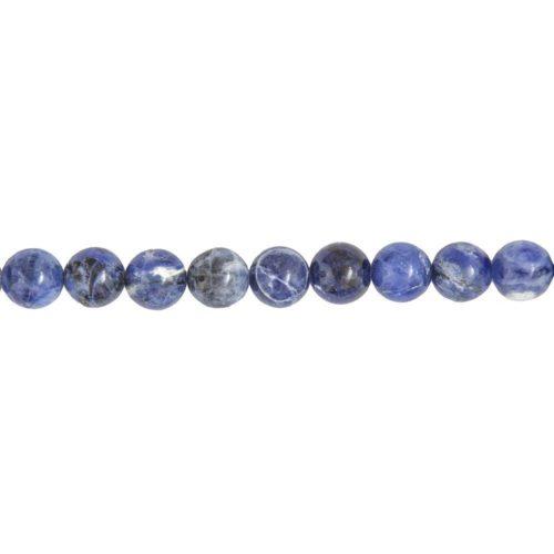 fil sodalite pierres boules 10mm