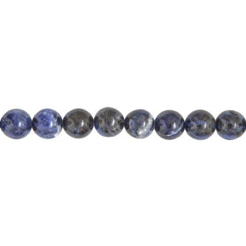 fil sodalite pierres boules 12mm