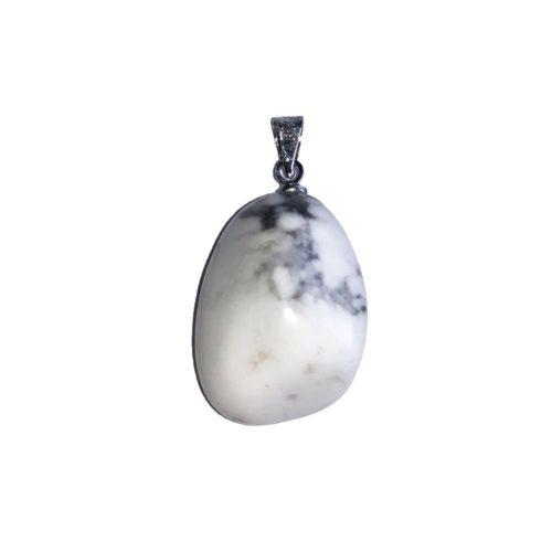 pendentif howlite pierre roulée