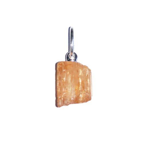 pendentif topaze impériale pierre brute
