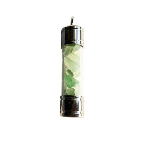 pendentif aventurine verte tube