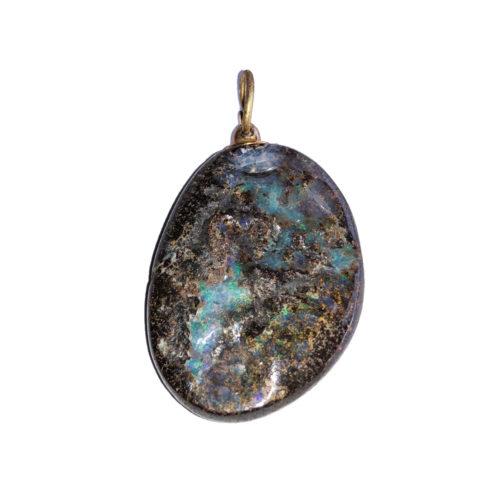 pendentif opale d'australie pierre roulée