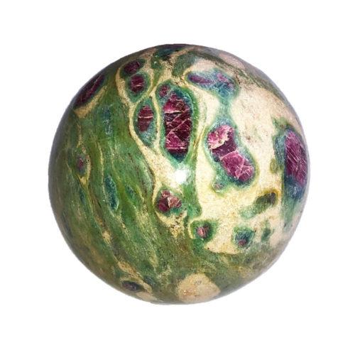 sphere rubis sur fuschite