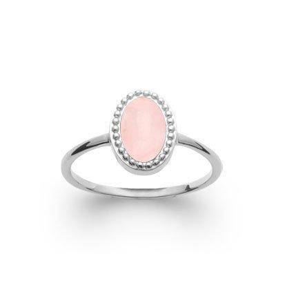 bague quartz rose alexandra argent 925