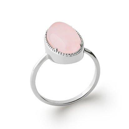 bague quartz rose argent 925