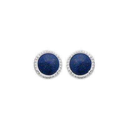 boucles d'oreilles lapis lazuli argent 925