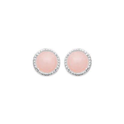 boucles d'oreilles quartz rose argent 925