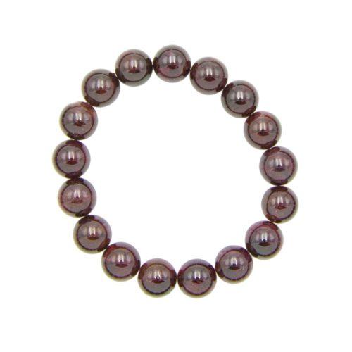 bracelet grenat rouge pierres boules 10mm
