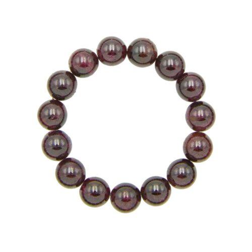 bracelet grenat rouge pierres boules 12mm