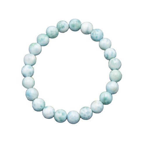bracelet larimar pierres boules 8mm