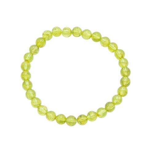 bracelet péridot pierres boules 6mm