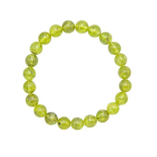 bracelet péridot pierres boules 8mm