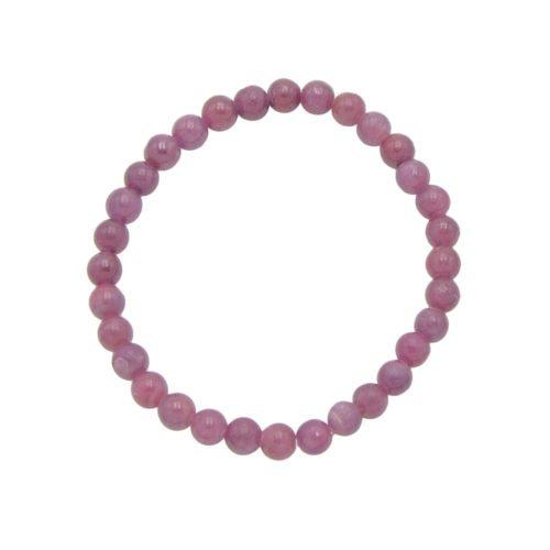 bracelet rubis pierres boules 6mm