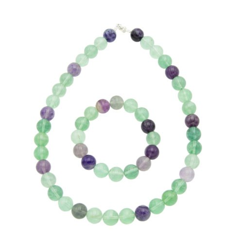 coffret fluorite multicolore pierres boules 12mm