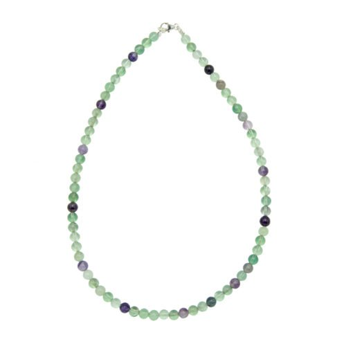 collier fluorite multicolore pierres boules 6mm