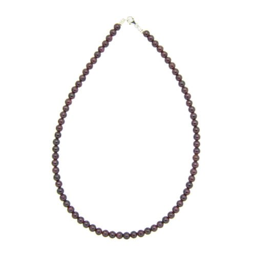 collier grenat pierres boules 6mm