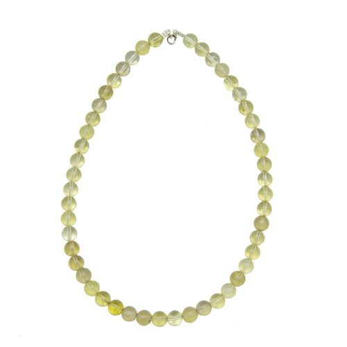 collier topaze citron pierres boules 10mm