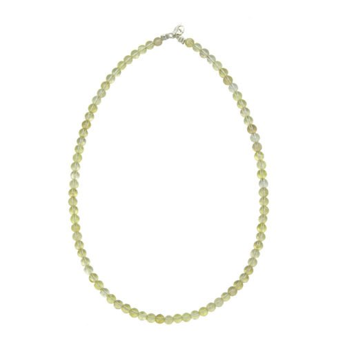 collier topaze citron pierres boules 6mm