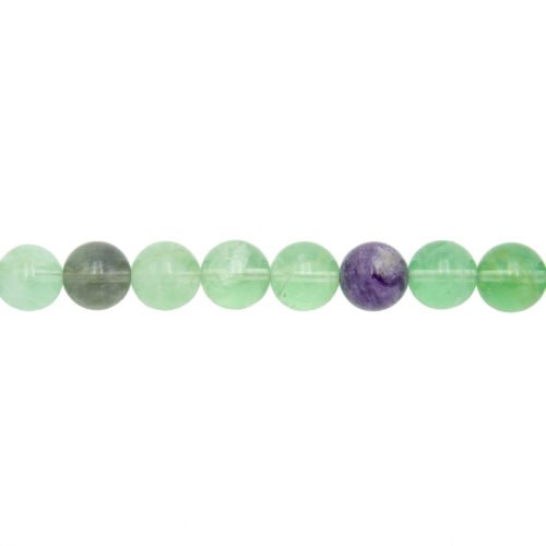 fil fluorite multicolore pierres boules 12mm