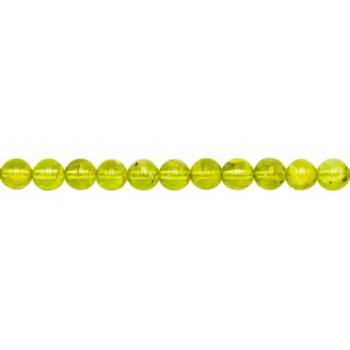 fil péridot pierres boules 6mm
