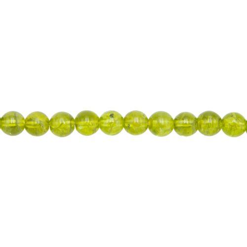 fil péridot pierres boules 8mm