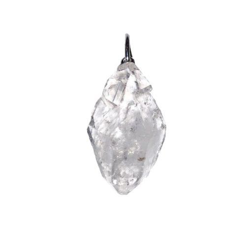 Pendentif diamant herkimer pierre brute