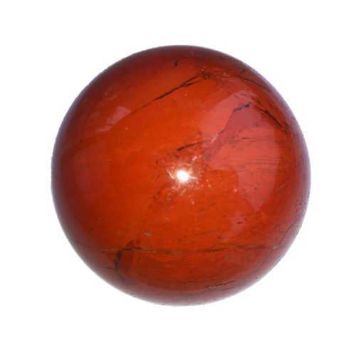 sphere jaspe rouge