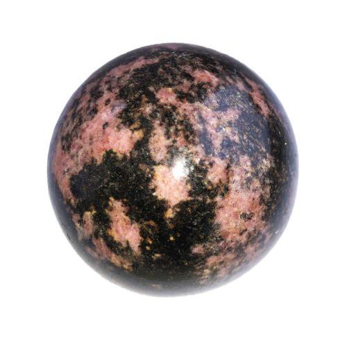 sphere rhodonite