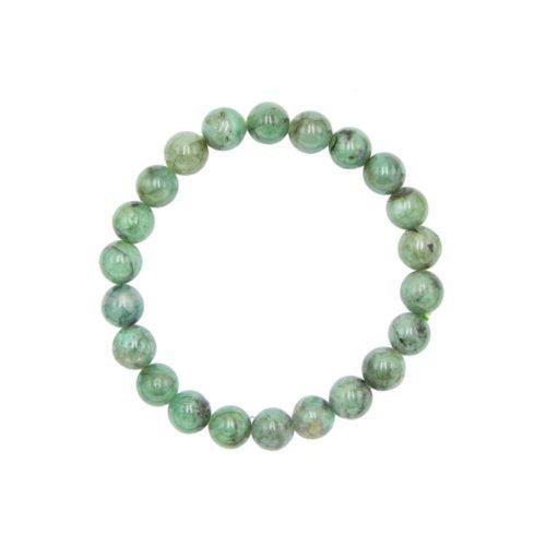 bracelet émeraude pierres boules 8mm