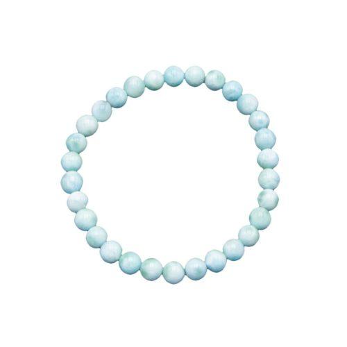 bracelet larimar pierres boules 6mm