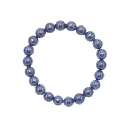 bracelet saphir pierres boules 8mm