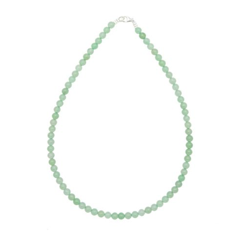 collier aventurine pierres boules 6mm