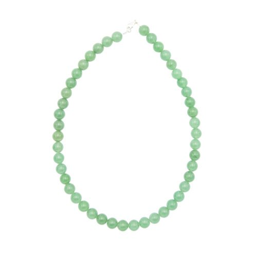collier aventurine pierres boules 10mm