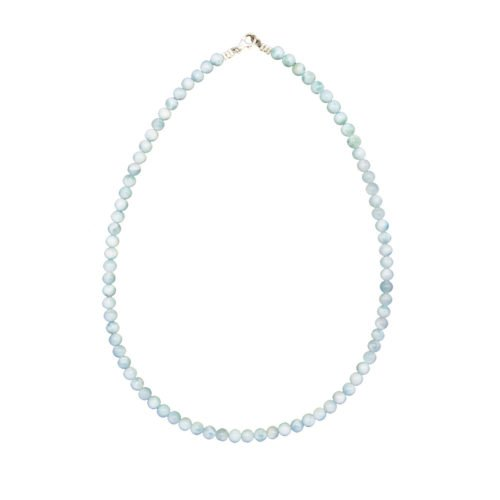 collier larimar pierres boules 6mm