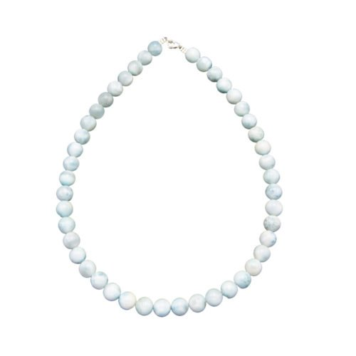 collier larimar pierres boules 10mm
