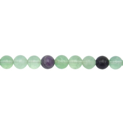 fil fluorite multicolore pierres boules 10mm