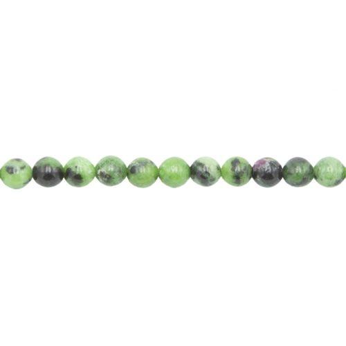 fil rubis sur zoisite pierres boules 6mm