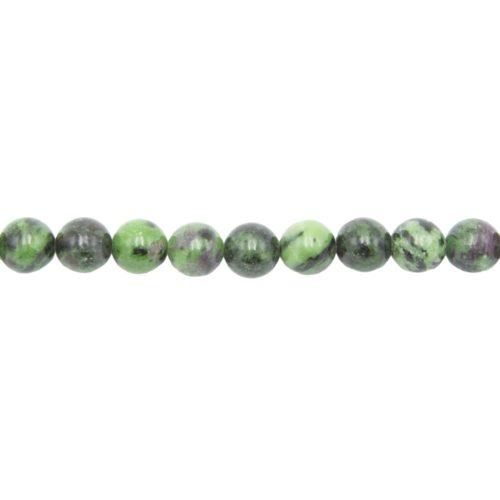 fil rubis sur zoisite pierres boules 10mm