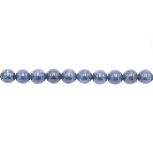 fil saphir pierres boules 8mm