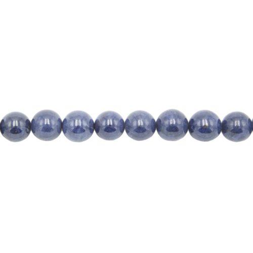 fil saphir pierres boules 12mm