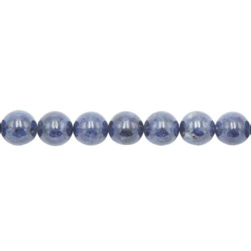 fil saphir pierres boules 14mm