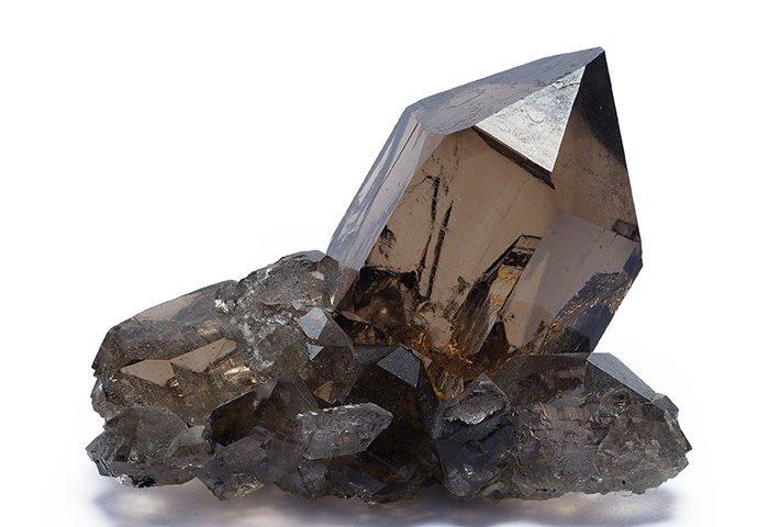pierre quartz fumé