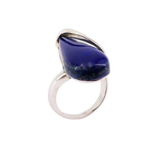 bague lapis lazuli argent