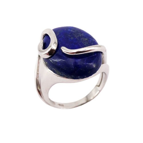 bague lapis-lazuli argent