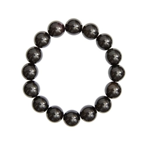 bracelet onyx pierres boules 12mm