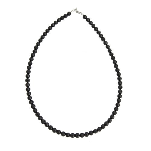 collier onyx pierres boules 6mm