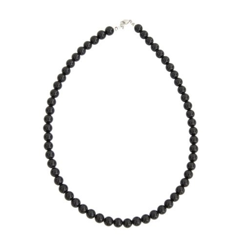 collier onyx pierres boules 8mm