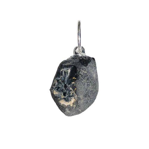 pendentif spinelle noir pierre brute